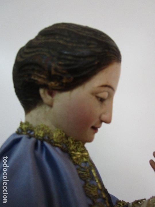 Arte: Bonita Virgen Purísima - Cap y Pota - Madera Tallada y Policromada - S. XIX - Foto 22 - 178611338