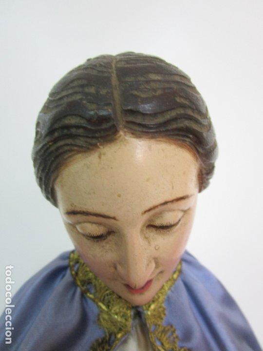 Arte: Bonita Virgen Purísima - Cap y Pota - Madera Tallada y Policromada - S. XIX - Foto 23 - 178611338