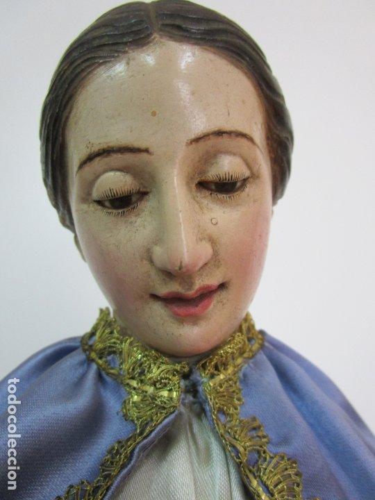 Arte: Bonita Virgen Purísima - Cap y Pota - Madera Tallada y Policromada - S. XIX - Foto 25 - 178611338