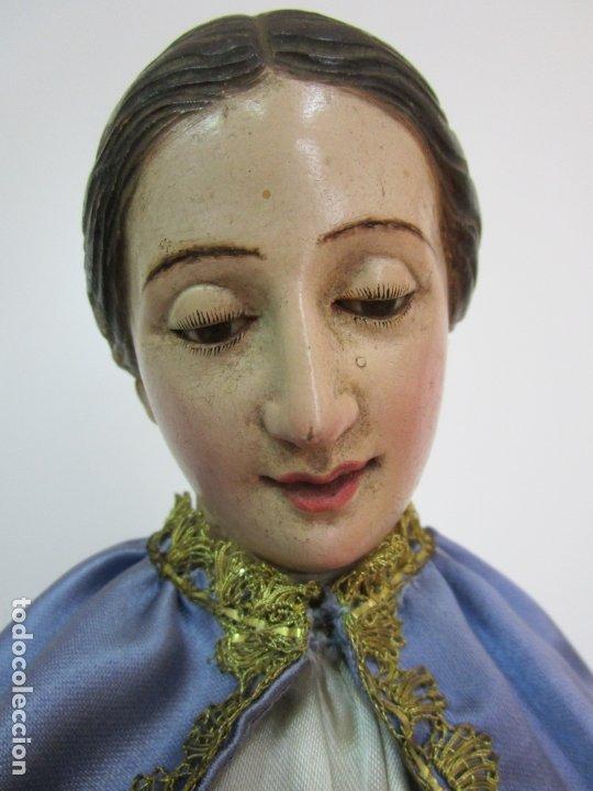 BONITA VIRGEN PURÍSIMA - CAP Y POTA - MADERA TALLADA Y POLICROMADA - S. XIX (Arte - Arte Religioso - Escultura)