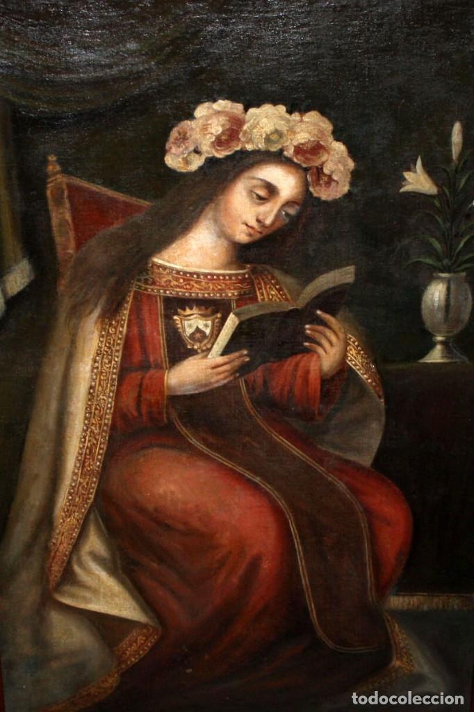ESCUELA ESPAÑOLA DEL SIGLO XVIII. OLEO SOBRE TELA. VIRGEN DEL CARMEN (Arte - Arte Religioso - Pintura Religiosa - Oleo)
