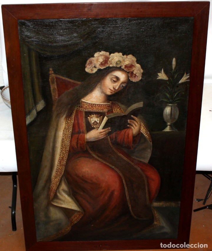 Arte: ESCUELA ESPAÑOLA DEL SIGLO XVIII. OLEO SOBRE TELA. VIRGEN DEL CARMEN - Foto 3 - 178637036