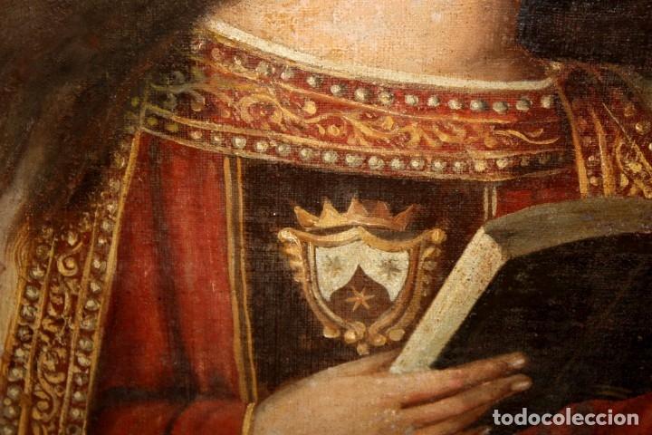 Arte: ESCUELA ESPAÑOLA DEL SIGLO XVIII. OLEO SOBRE TELA. VIRGEN DEL CARMEN - Foto 12 - 178637036