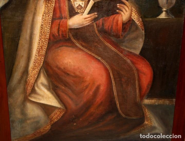 Arte: ESCUELA ESPAÑOLA DEL SIGLO XVIII. OLEO SOBRE TELA. VIRGEN DEL CARMEN - Foto 13 - 178637036