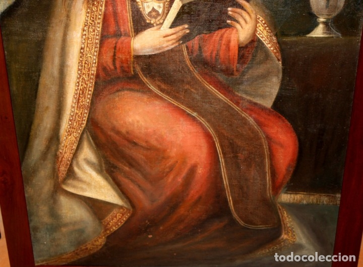Arte: ESCUELA ESPAÑOLA DEL SIGLO XVIII. OLEO SOBRE TELA. VIRGEN DEL CARMEN - Foto 14 - 178637036