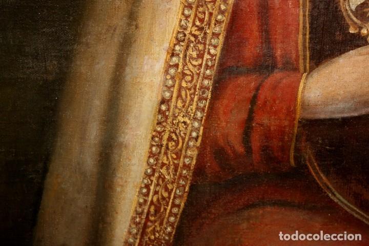Arte: ESCUELA ESPAÑOLA DEL SIGLO XVIII. OLEO SOBRE TELA. VIRGEN DEL CARMEN - Foto 15 - 178637036