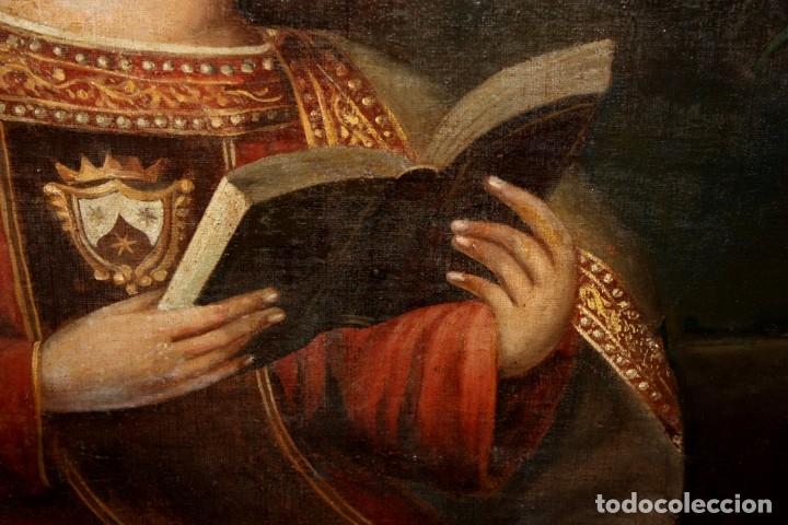 Arte: ESCUELA ESPAÑOLA DEL SIGLO XVIII. OLEO SOBRE TELA. VIRGEN DEL CARMEN - Foto 16 - 178637036