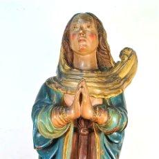 Arte: INMACULADA. MADERA TALLADA Y POLICROMADA. ESPAÑA. SIGLOS XVII-XVIII. Lote 178651355