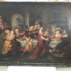 Arte: EL FESTÍN DE HÉROES, S. XVIII OLEO SOBRE LIENZO. Lote 178675058