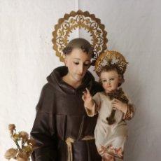 Arte: EXQUISITO SAN ANTONIO DE TALLA DE MADERA, DEL SIGLO XIX.. Lote 287415238