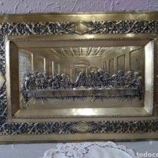 Arte: CUADRO ( SIGLO XIX, PLATA REPUJADA SANTA CENA PUNZONADO, F.. Y C. NÚMERADA).MÁS ARTÍCULOS EN PERFIL.. Lote 178714990