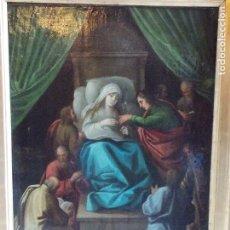Arte: ANTIGUO OLEO SOBRE TABLA RELIGIOSO SIGLO XVII XVIII. Lote 178788106