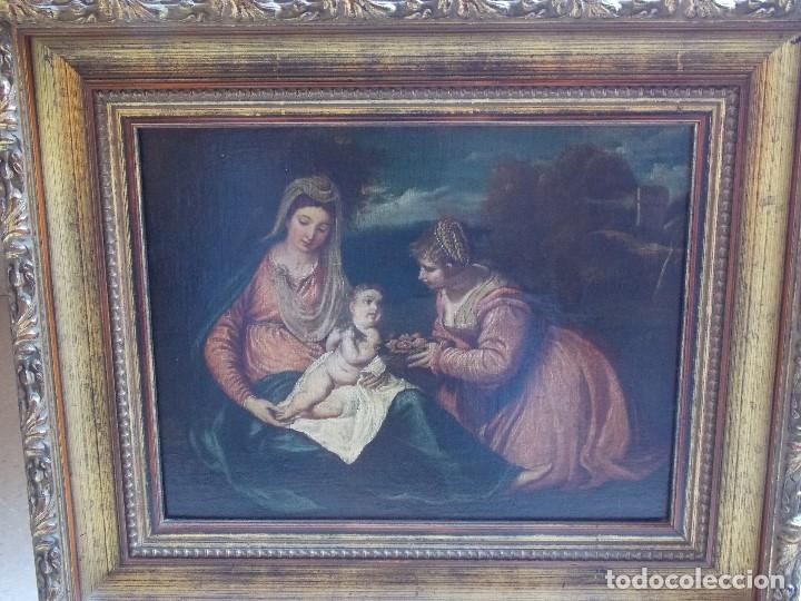 Arte: ANTIGUO OLEO SOBRE LIENZO VIRGEN Y SANTA CATALINA - Foto 2 - 178792141