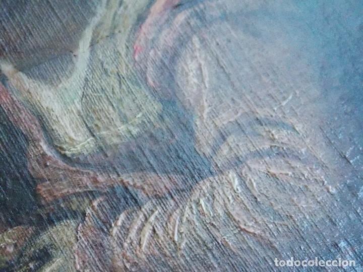Arte: ANTIGUO OLEO SOBRE LIENZO VIRGEN Y SANTA CATALINA - Foto 8 - 178792141