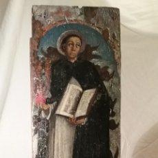 Arte: RETABLO DE SANTO DOMINICO, SIGLO XVIII, SAN MARTIN DE PORRES?????, 51CM X16.50 CM X 2 CM. Lote 178808847