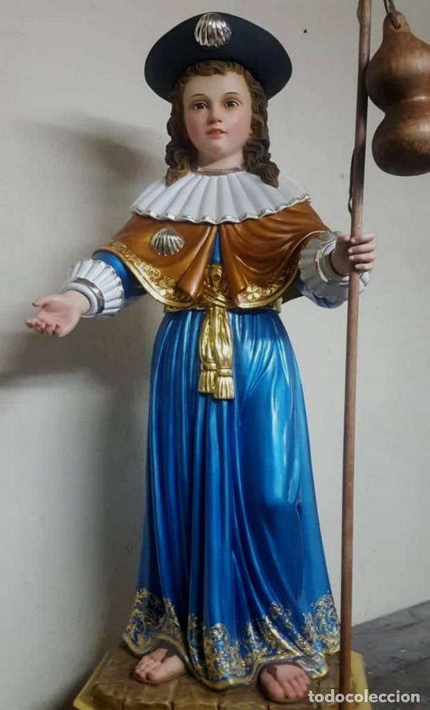 ESCULTURA SANTO NIÑO DE ATOCHA LAMINADOS EN ORO 23 Y PLATA (Arte - Arte Religioso - Escultura)