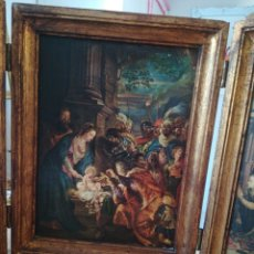 Arte: TRIPTICO DE MADERA CON LAMINA Y PAN DE ORO . Lote 178837168