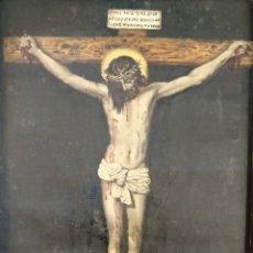 Arte: ANTIGUO CUADRO RELIGIOSO FINALES S.XVIII O PRINCIPIOS XIX. Lote 178854733