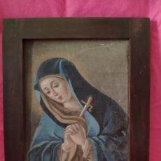Arte: ÓLEO SOBRE LIENZO VIRGEN DOLOROSA SIGLO XVIII-XIX - 1000-028. Lote 43107584