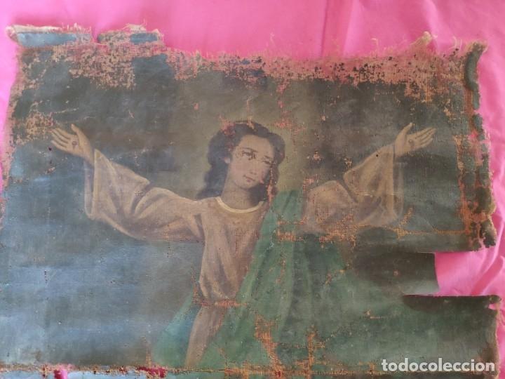 Arte: ÓLEO SOBRE LIENZO NIÑO DE PASIÓN SIGLO XVIII - 1000-088 - Foto 3 - 43724324
