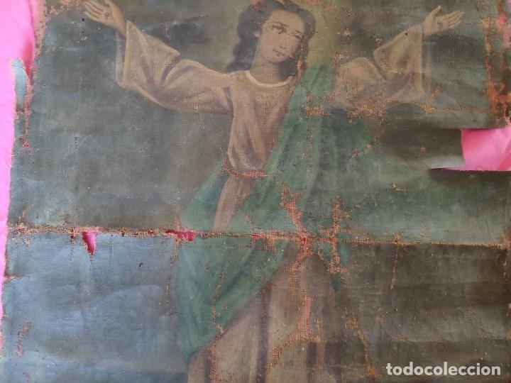 Arte: ÓLEO SOBRE LIENZO NIÑO DE PASIÓN SIGLO XVIII - 1000-088 - Foto 4 - 43724324