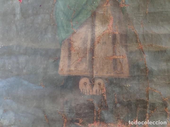 Arte: ÓLEO SOBRE LIENZO NIÑO DE PASIÓN SIGLO XVIII - 1000-088 - Foto 6 - 43724324
