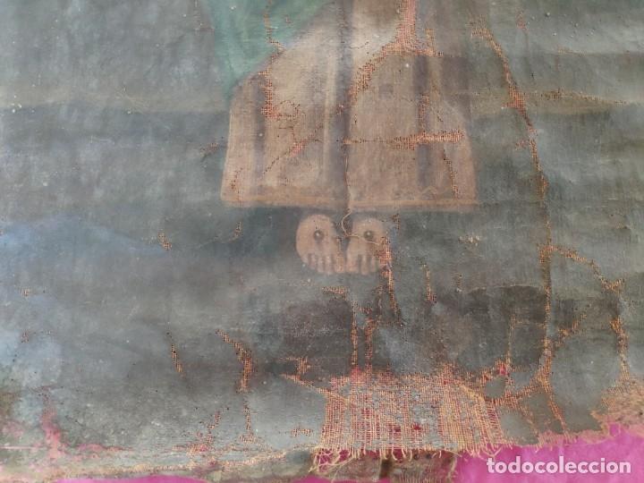 Arte: ÓLEO SOBRE LIENZO NIÑO DE PASIÓN SIGLO XVIII - 1000-088 - Foto 7 - 43724324