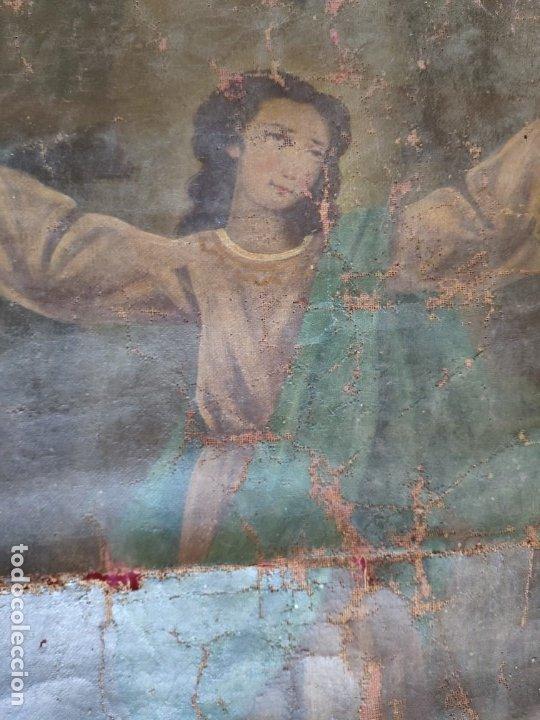 Arte: ÓLEO SOBRE LIENZO NIÑO DE PASIÓN SIGLO XVIII - 1000-088 - Foto 8 - 43724324