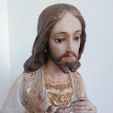 Arte: SANGRADO CORAZÓN DE JESÚS OLOT EN PAN DE ORO. Lote 241803325