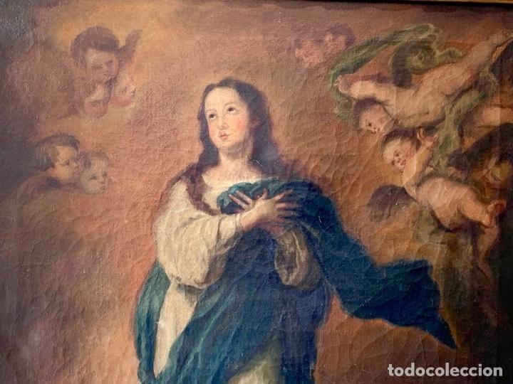 Arte: OLEO SOBRE LIENZO VIRGEN FIRMADO - Foto 3 - 178888081