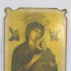 Arte: NUESTRA SEÑORA DEL PERPETUO SOCORRO EN MADERA LAMINA. Lote 178920043