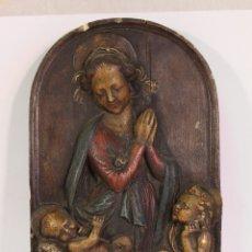 Arte: VIRGEN MARIA EN ESTUCO POLICROMADO. Lote 178920170
