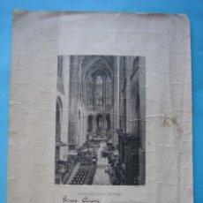 Arte: ANTIGUA LITOGRAFIA - IGLESIA SAINT GERVAIS - PARIS - FRANCIA - PRIMERA COMUNION - AÑO 1922 - VER. Lote 178986985