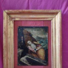 Arte: ÓLEO SOBRE COBRE Mª MAGDALENA EN EL SEPULCRO SIGLO XVI - 1000-024. Lote 43107522