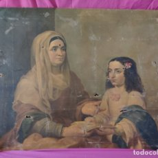 Arte: ÓLEO SOBRE LIENZO LA EDUCACIÓN DE LA VIRGEN FINALES XIX-XX - 1000-042. Lote 43138170