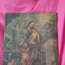 Arte: ÓLEO SOBRE LIENZO SAN JOSÉ CON NIÑO SIGLO XVIII - 1000-066. Lote 43145250