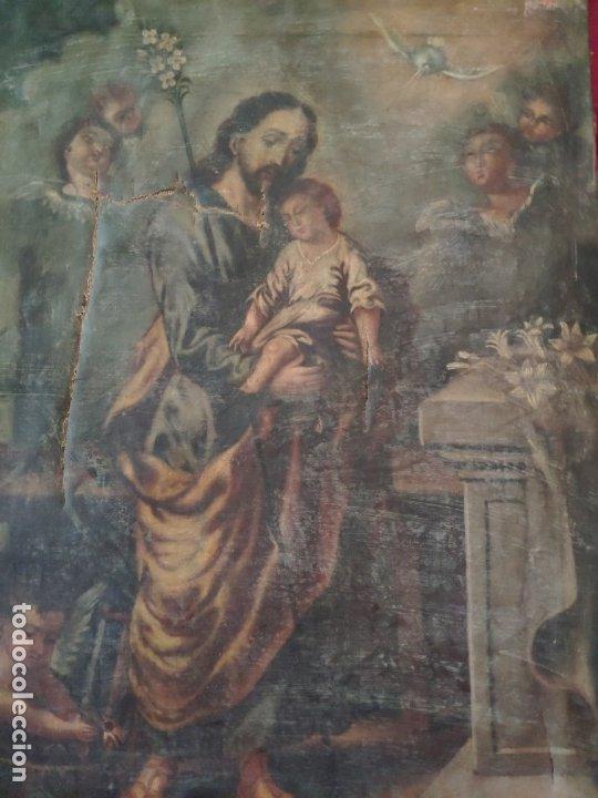 Arte: ÓLEO SOBRE LIENZO SAN JOSÉ CON NIÑO SIGLO XVIII - 1000-066 - Foto 19 - 43145250
