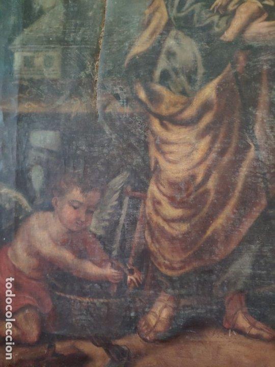 Arte: ÓLEO SOBRE LIENZO SAN JOSÉ CON NIÑO SIGLO XVIII - 1000-066 - Foto 24 - 43145250