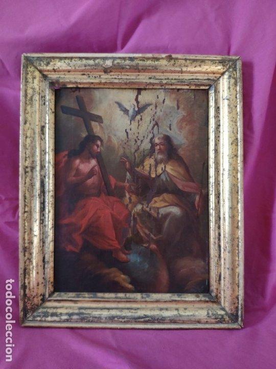 ÓLEO SOBRE LIENZO TRINIDAD ATRIBUIDO A J. ANTONIO ZAPATA Y NADAL 1762-1837 - 1000-071 (Arte - Arte Religioso - Pintura Religiosa - Oleo)