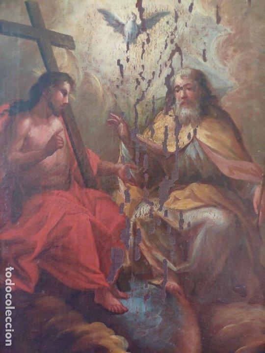 Arte: ÓLEO SOBRE LIENZO TRINIDAD ATRIBUIDO A J. ANTONIO ZAPATA Y NADAL 1762-1837 - 1000-071 - Foto 13 - 43145369