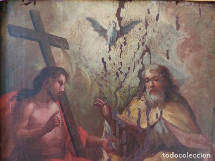 Arte: ÓLEO SOBRE LIENZO TRINIDAD ATRIBUIDO A J. ANTONIO ZAPATA Y NADAL 1762-1837 - 1000-071 - Foto 14 - 43145369