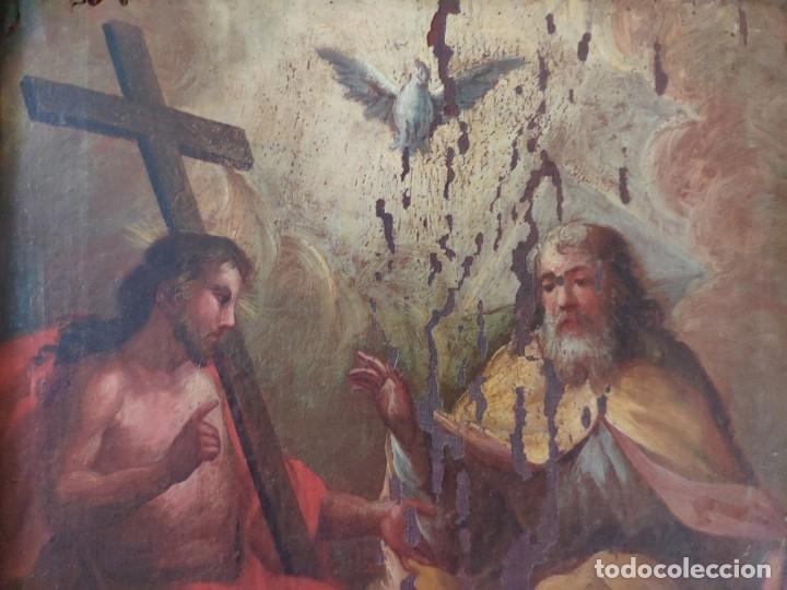 Arte: ÓLEO SOBRE LIENZO TRINIDAD ATRIBUIDO A J. ANTONIO ZAPATA Y NADAL 1762-1837 - 1000-071 - Foto 15 - 43145369