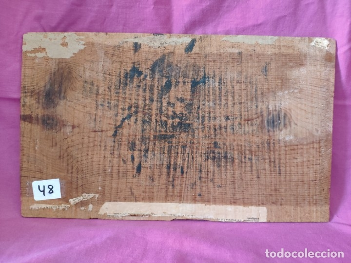 Arte: ÓLEO SOBRE PAPEL ADHERIDO A TABLA WSSEL ALEGORÍA A LA VIRGEN SIGLO XIX- XX - 1000-014 - Foto 15 - 43425175