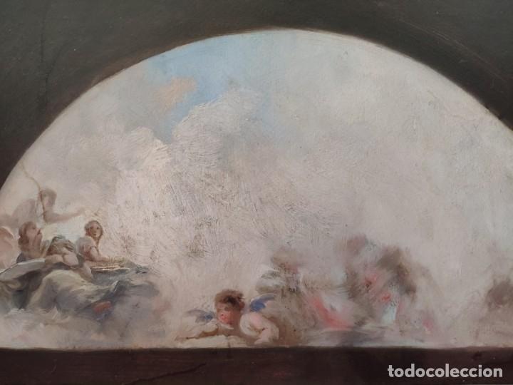 Arte: ÓLEO SOBRE PAPEL BOCETO DE TEMA RELIGIOSO CON ALEGORÍA DE LA VIRGEN - 1000-020 - Foto 12 - 43428503
