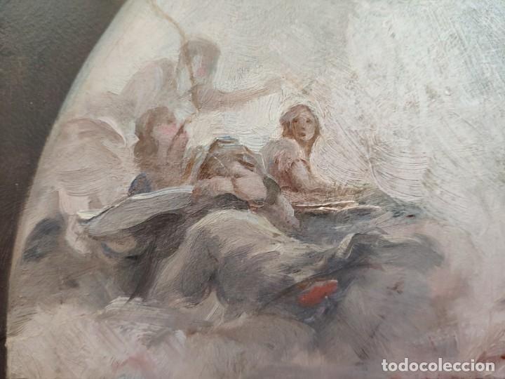 Arte: ÓLEO SOBRE PAPEL BOCETO DE TEMA RELIGIOSO CON ALEGORÍA DE LA VIRGEN - 1000-020 - Foto 13 - 43428503