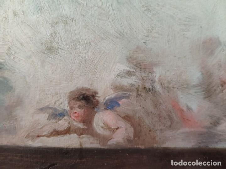 Arte: ÓLEO SOBRE PAPEL BOCETO DE TEMA RELIGIOSO CON ALEGORÍA DE LA VIRGEN - 1000-020 - Foto 14 - 43428503