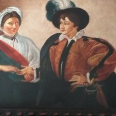 Arte: LLA BUENABENTURA DE CARAVAGGIO -MAGNIFICA COPIA REALIZADA EN OLEO SOBRE COBRE . Lote 178998797