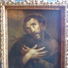 Arte: ANTIGUO OLEO SOBRE LIENZO RELIGIOSO SAN ANTONIO SIGLO XVII ,XVIII. Lote 179020236