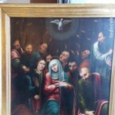 Arte: ANTIGUO OLEO SOBRE TABLA ESCUELA VALENCIANA SIGLO XVII. Lote 179024405