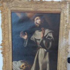 Arte: ANTIGUO OLEO SOBRE LIENZO SIGLO XVII SAN FRANCISCO. Lote 179025938
